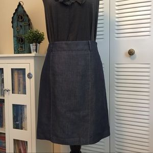 Loft dressy denim/jean look Pencil skirt size 2
